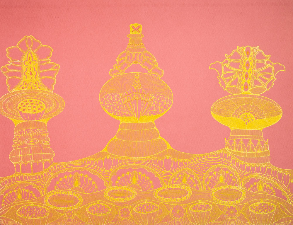 Pink Temple Paintings Amp Other Work Series Available